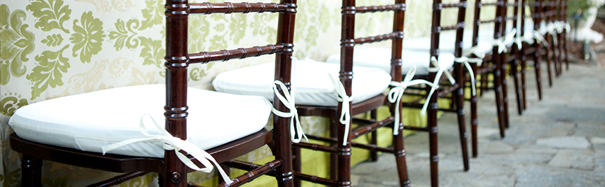 White_Chiavari_Cushions_with_ties_on_Mahogany_Chiavari_Chair